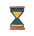 timer sand hourglass glass clock business vector image