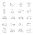 Transportation Icons Line Set Of copy vector image