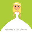 wedding inviation design vector image