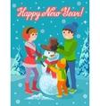 winter sport card vector image