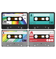 Retro Audio Cassette Tapes vector image
