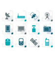 stylized technology and communications icons vector image
