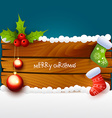 christmas of wood background vector image