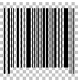 Bar code sign Flat style black icon on vector image