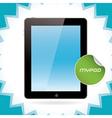 Black Glossy Tablet Pad vector image