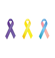 cancer awareness ribbons vector image