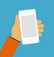 Hand holding mobile concept vector image