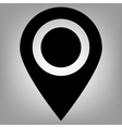 Locator flat icon vector image