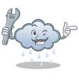 mechanic rain cloud character cartoon vector image