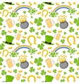 Seamless Saint Patricks Day Background vector image