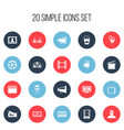 set of 20 editable filming icons includes symbols vector image