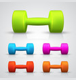 set of color dumbbell vector image