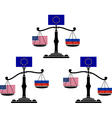 set of EU scales vector image