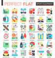 sport and fitness equipment complex flat vector image