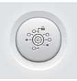 Security Settings Icon Grey Button Design vector image
