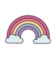 cute rainbown fantasy icon vector image