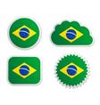 Brazil flag labels vector image