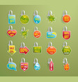 shelf wobbler discount labels set on green vector image