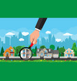 private suburban house real estate vector image