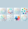 business infographics diagrams with 7 steps vector image vector image