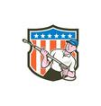 Pressure Washer Water Blaster USA Flag Cartoon vector image vector image