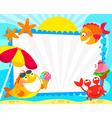 summer fish fraem vector image vector image