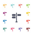 signpost flat icons set vector image