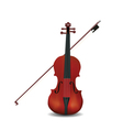 violin isolated vector image
