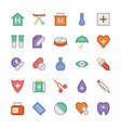 Health Colored Icons 2 vector image