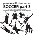 Premium Soccer Part 3 vector image vector image