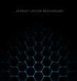 Abstract hexagon shapes background vector image
