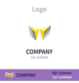 Colorful logo identity for company vector image