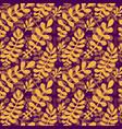 dark autumn leaves pattern seamless texture in vector image