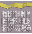 Elegant simple alphabet vector image