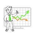 Happy SIM trader vector image