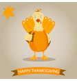 holiday banner with turkey for thanksgiving day vector image