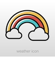 Rainbow in cloud icon Meteorology Weather vector image