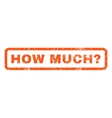 How Much Question Rubber Stamp vector image