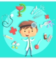 Boy Doctor Kids Future Dream Professional vector image
