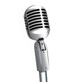 Microphone vintage metallic object vector image