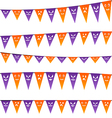 Halloween hanging streamers flags for your party vector image vector image