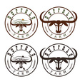 buffalo farm vintage labels set vector image