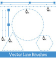 line brushes vector image vector image