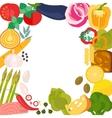 Frame of flat designed organic food vector image
