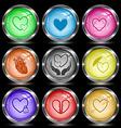 careful heart atomic heart love in hands vector image