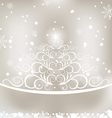 Celebration glowing card with Christmas floral pin vector image