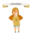 Cute little girl cute dress vector image