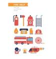 Fire Help Conceptual Icons Set vector image