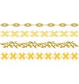 gold floral border vector image