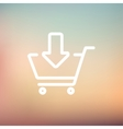 Remove from shopping cart thin line icon vector image
